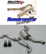 "Milltek SSXVW188 Golf GTI MK6 3"" Turbo Back RACE Exhaust & Decat Downpipe Black"