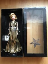 Franklin Mint Marilyn Monroe Vinyl Doll Gold Lame Dress PQS Quality Sample