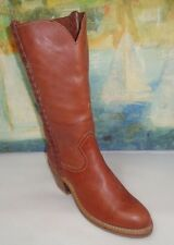 SEARS WOMEN BOOTS Size 7M  brown leather length 9.5""