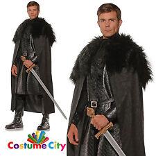 Adultes noir bordure en fourrure médiéval renaissance cape accessoires costume robe fantaisie