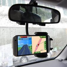 Car Rearview Mirror Mount Holder Stand Cradle For Android iOS iPhone Cell Phone