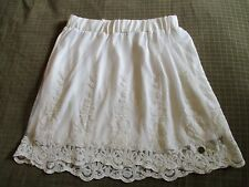 Lee Cooper Ladies Size 8 Cute Boho White Floral Lace Mini Skirt