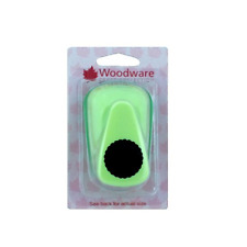 Woodware 1 inch SCALLOPED CIRCLE Round Hole Lever Punch Cardmaking 25mm