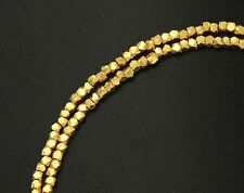 Karen hill tribe 24k Gold  Vermeil Style  140  Faceted Beads 1.5 mm.
