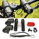 CREE Q5 7W LED Mountain Bike Bicycle Cycling Zoomable Front Head Light Rear Lamp