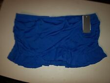 NEW KENNETH COLE REACTION blue ruffle bikini swimsuit skirt bottom XL 16