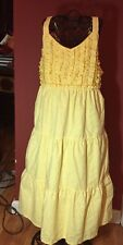 Penelope Mack Boutique Girls Sz. 10 Yellow Tiered Eyelet Easter To Summer Dress