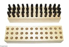 "NEW 1/16"" LETTER NUMBER STAMP SET – Made in the USA – metal punch punches tools"