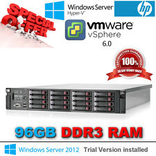 "HP ProLiant DL380 G7 2x 4-CORE E5630 2.53Ghz 96GB RAM 16 X 2.5"" HP CADDY & RAILS"