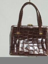 Darling 1940's Brown Crocodile Box Purse Exc Cond