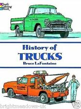 History of Trucks Adult Colouring Book Cars Van Fathers Day Gift Educational