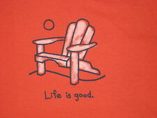 LIFE IS GOOD WOMENS S/S ADIRONDACK CHAIR  T- SHIRT SIZE M