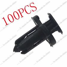 100pcs 10mm Hole Clips Plastic Push Type Rivet Retainer Fastener Bumper Pin Car