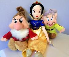 "Snow White and the Seven Dwarfs Dopey Grumpy Stuffed Plush Soft Toy Doll 16"" NEW"