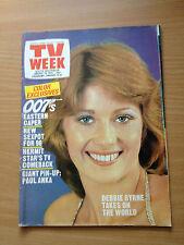 TV Week Mag Jan 1975. Debbie Byrne, Paula Duncan, Kamahl, 007 - Roger Moore