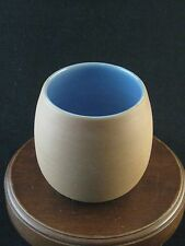 Authentic Celadon Brand Fine Pottery Cup Blue Glaze Made in Japan