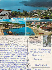 1982 MULTI VIEWS OF AGHIA MARINA AEGINA ISLAND GREECE COLOUR POSTCARD (a)