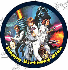 Star Wars Large 8 Cake Topper Edible ICING Paper BIRTHDAY PERSONALISED
