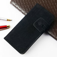 NEW FLIP WALLET SUEDE LEATHER CASE COVER For APPLE IPHONE 4 4S 5 5S 6 6 PLUS