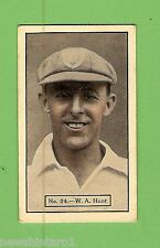 1934 - 1935 ALLEN'S CRICKET CARDS #24  W. A. HUNT