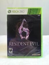 Resident Evil 6 MICROSOFT Xbox 360 video game 2012 Capcom Brand New Sealed Live