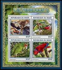 NIGER 2016 PARROTS  SHEET MINT NH