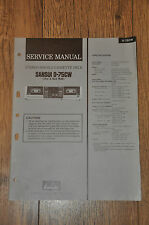 Sansui D-75CW Stereo Double Cassette Tape deck Genuine Vintage Service Manual