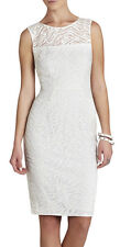 "$298 BCBG OFF WHITE ""ALICE"" SLEEVELESS LACE EMBROIDERED DRESS NWT 6"