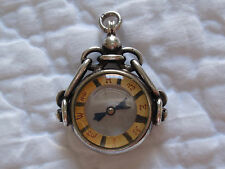 Antique Vintage Sterling Silver COMPASS FOB Hallmarked for Pocket Watch Chain