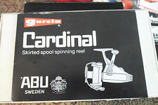 Owners Manual for Abu Garcia Cardinal Spinning Fishing Reel mdl 54 154 55 155 57