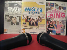 Wii KARAOKE MEGA BUNDLE : 2x MICROPHONES + 85 Song 3x Games 2x MICS we sing