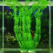 "12"" hot artificielle faux eau aquatique herbe verte plante aquarium fish tank décor"