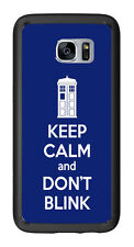 Tardis Keep Calm And Don't Blink For Samsung Galaxy S7 Edge G935 Case Cover by A