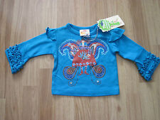 THE DUTCH DESIGN BAKERY Baby long sleeve PEACOCK TOP JUMPER girls 6 months NEW