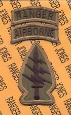 US Army Special Forces Group Airborne OD Ranger SFGA patch set