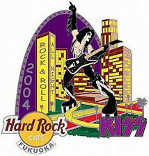 Hard Rock Cafe FUKUOKA 2004 KISS Series GIANT PAUL STANLEY Downtown PIN #24915