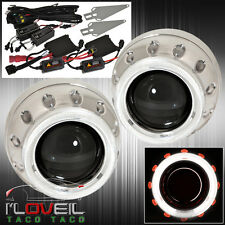 For Inifniti Mazda Bi Xenon Projectors Retrofit Headlight Halo Ring Hid 6000k