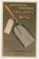 Something Towards The 'Appy 'Ome, Shovel Comic Postcard B632