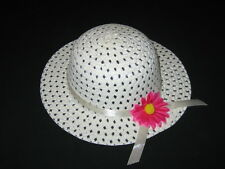 """NEW """"IVORY DAISY"""" Dress Up Party Girls Easter Straw Hat Clothes Toddler Kid Tea"""