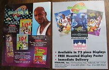Michael Jordan - Two Sell Sheets - Advertsing Flyers - Space Jam Products