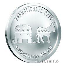 1 oz Silver Shield Republicrats 2016 .999 BU Republican - Democrat Satire SBSS