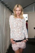 Isabel Marant Runway S/S 2014. Mora Embroidered Lace Top.  NWT.  White.  FR 38