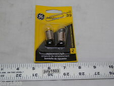 Two (2) GE 89 Miniature Lamp Bulb 8w  Single Contact 12 volt G6 Free Ship
