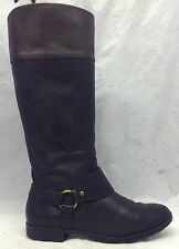 Lauren Ralph Lauren Sz 8.5 B Womens Sulita Black Leather Knee High Riding Boots