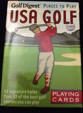 Golf Digest USA Golf Playing Cards 52 Signature Holes Inkstone Products