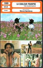 LA COULEUR POURPRE  Glover,Goldberg,Spielberg(Fiche Cinéma)1986 The Color Purple