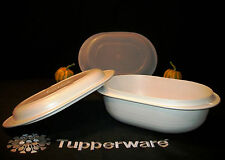 Tupperware 3-pc Ultra 21 Large 3 Qt Oval Roaster 1 Qt Cover ~Oven ~Microwave