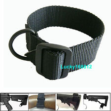 Black Universal Rifle Gun Shotgun Stock Single Point Sling Loop Adapter Strap #1