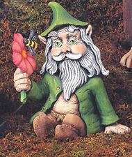 """8"""" Troll sitting holding flower ready to paint"""