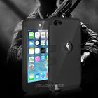 iPod Touch 6 5th Gen -HARD&SOFT RUBBER HIGH IMPACT ARMOR CASE BLACK HYBRID COVER